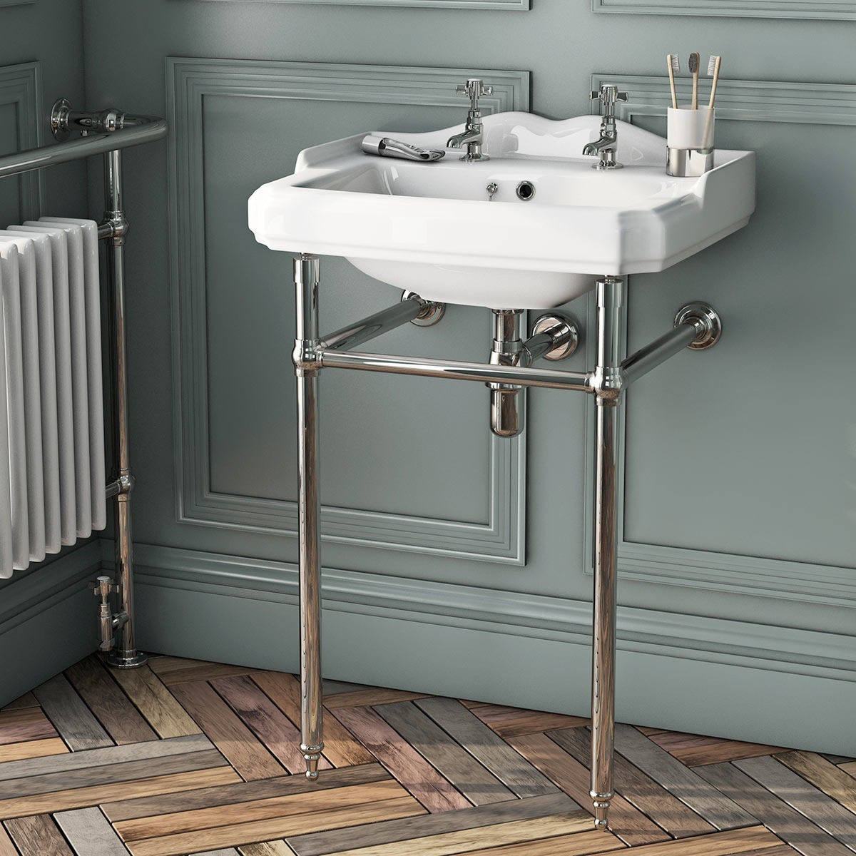 Traditional washstand with Winchester basin