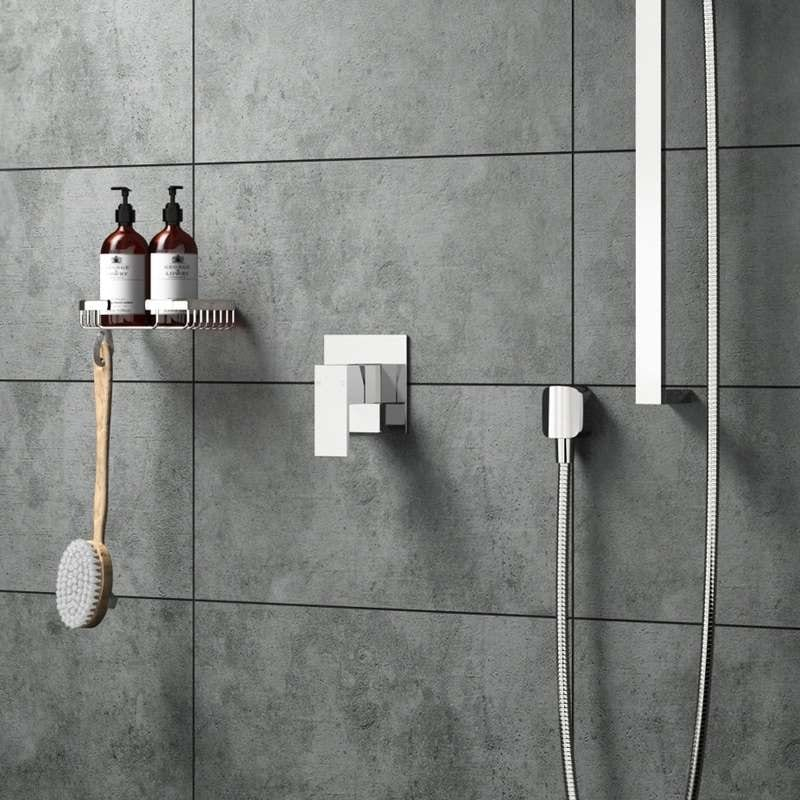 Square manual shower valve