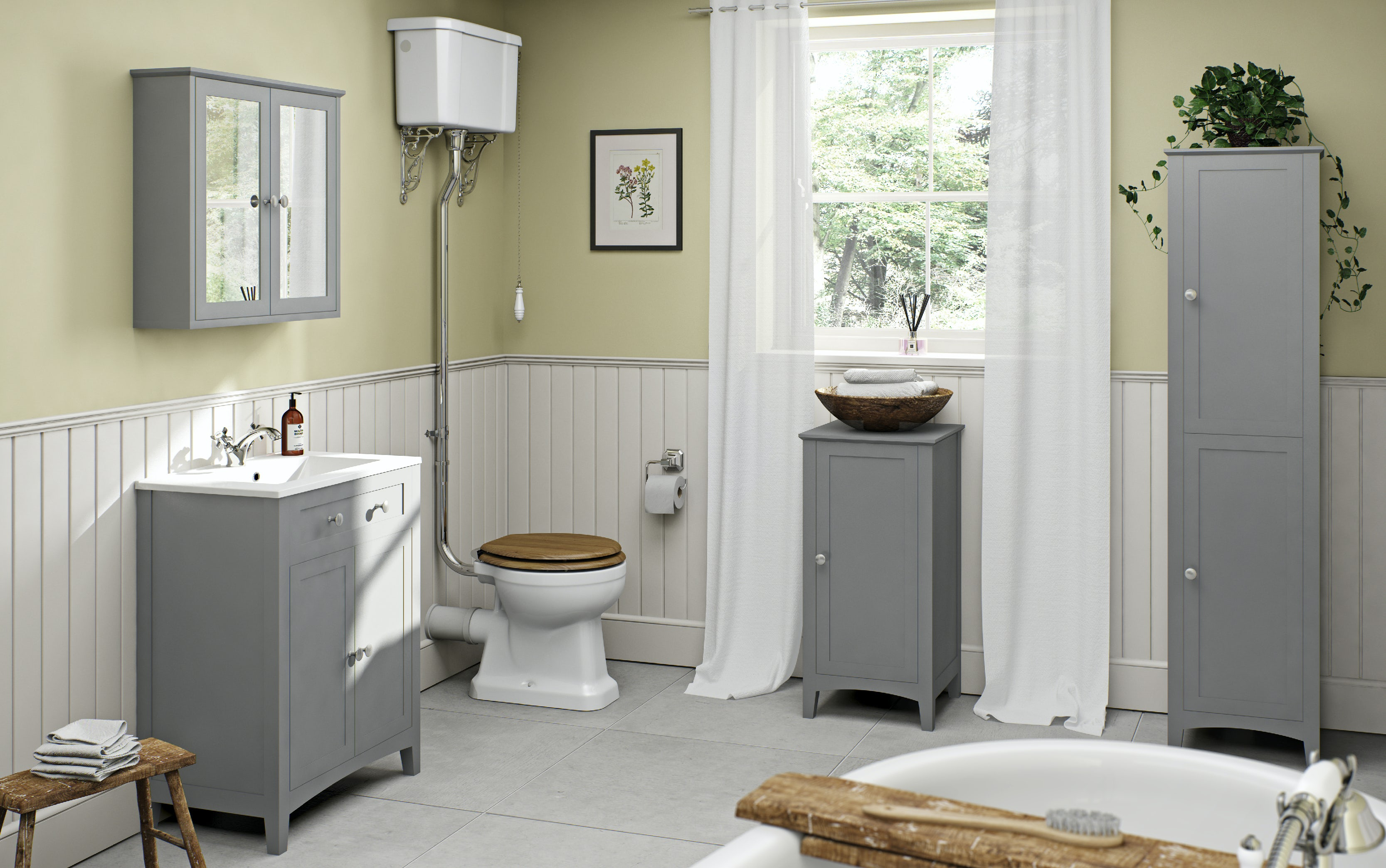 Turn your garage into a traditional bathroom