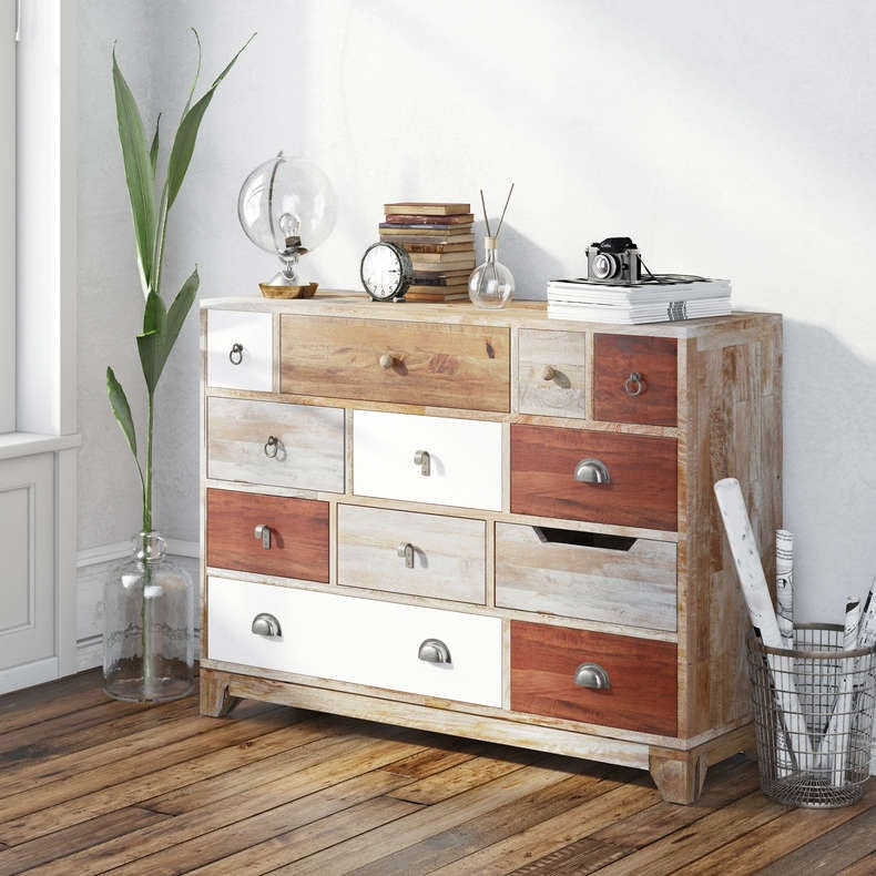 Weston natural 12 drawer chest