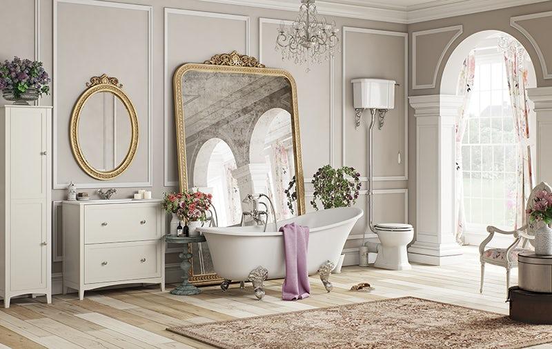 French Floral bathroom