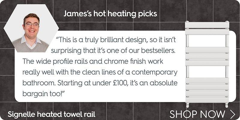 Signelle heated towel rail