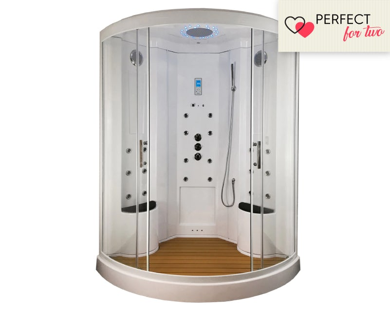 Insignia quadrant steam shower cabin