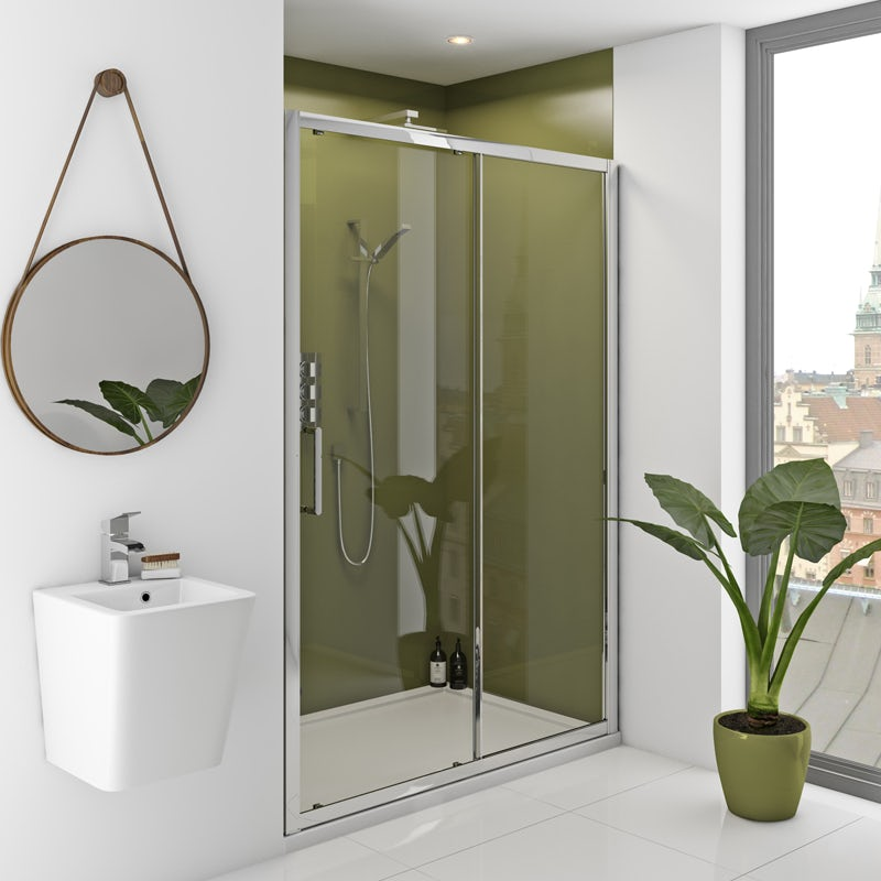 Zenolite plus earth acrylic shower wall panel