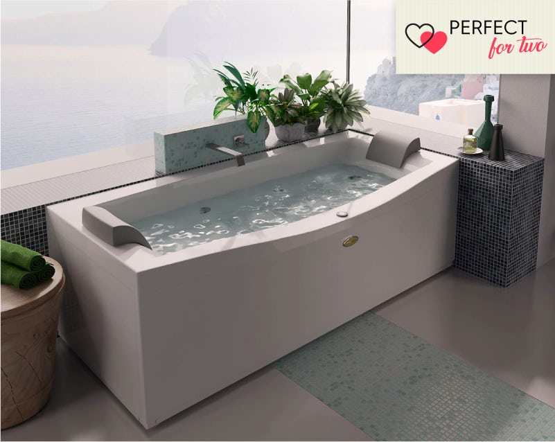 Jacuzzi Essentials double ended whirlpool bath