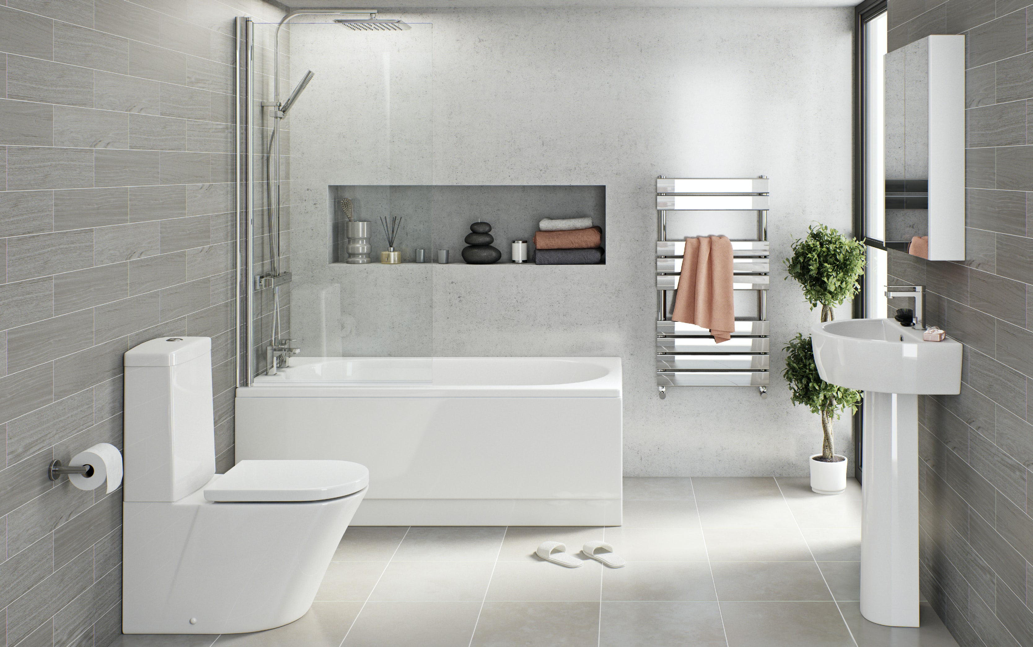 Turn your garage into a contemporary bathroom
