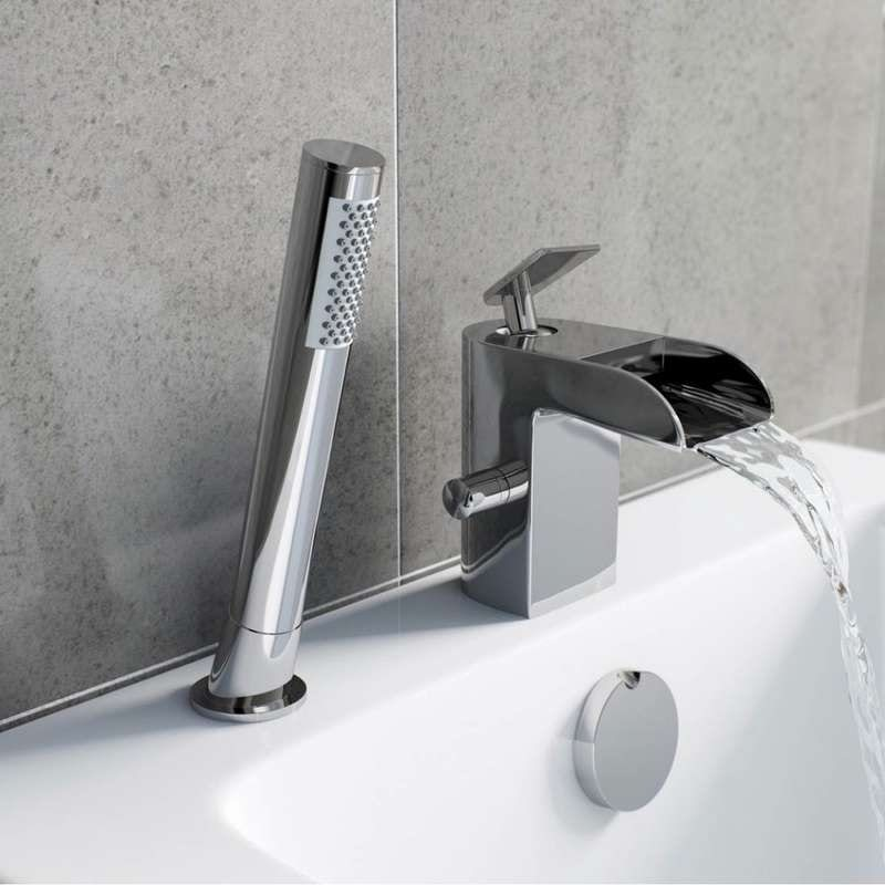 Mode Reinosa waterfall bath shower mixer tap