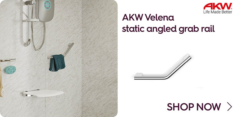 AKW Velena static angled grab rail 135° 303mm