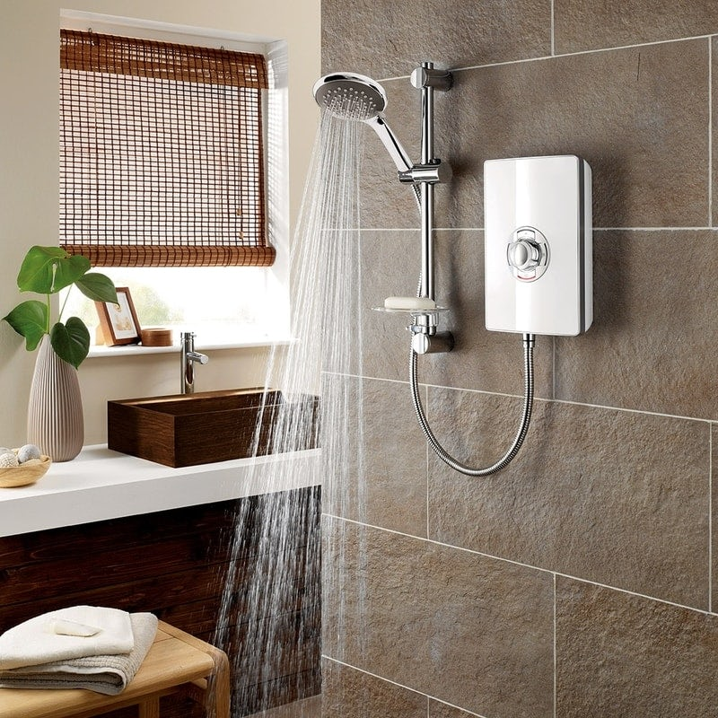 Triton Aspirante 8.5kw electric shower gloss white