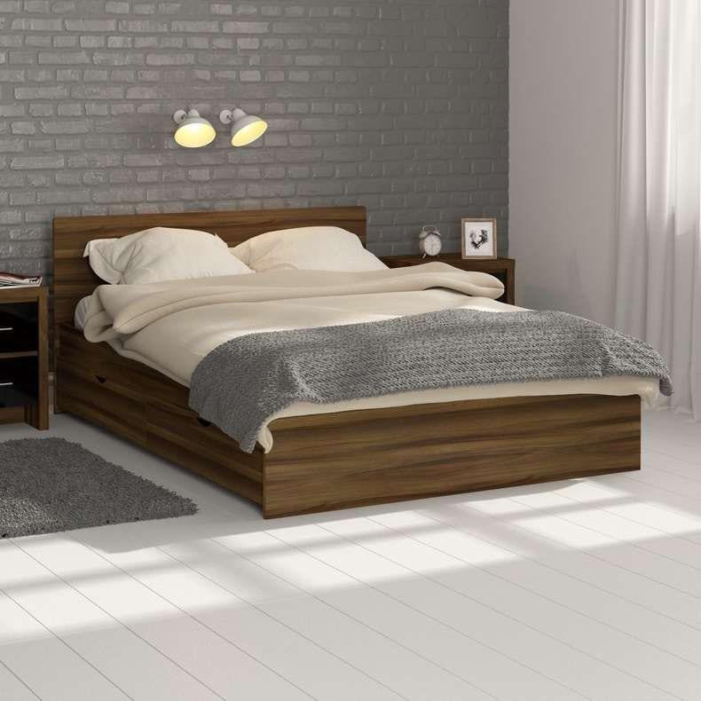 London walnut double bed