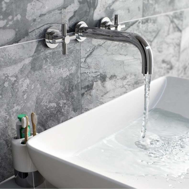 Alexa wall mounted basin filler tap