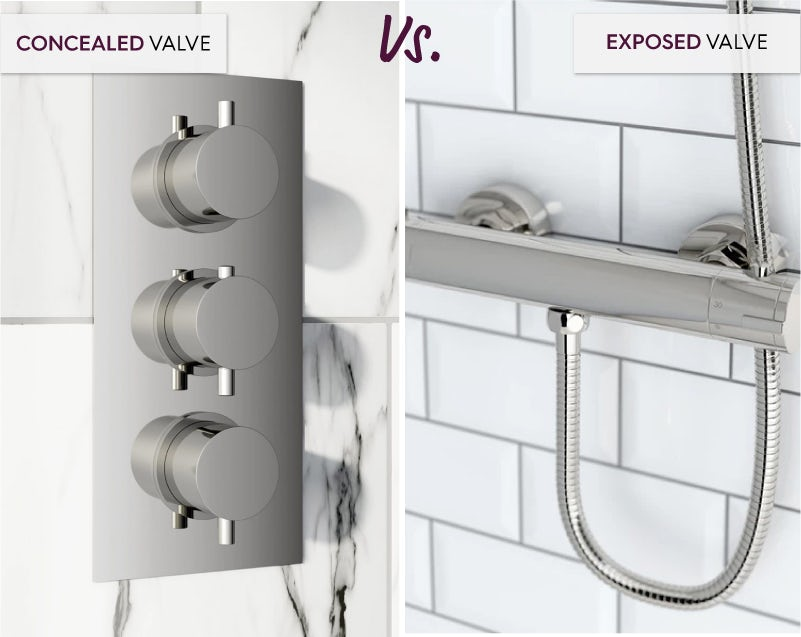 Concealed valve vs bar valve