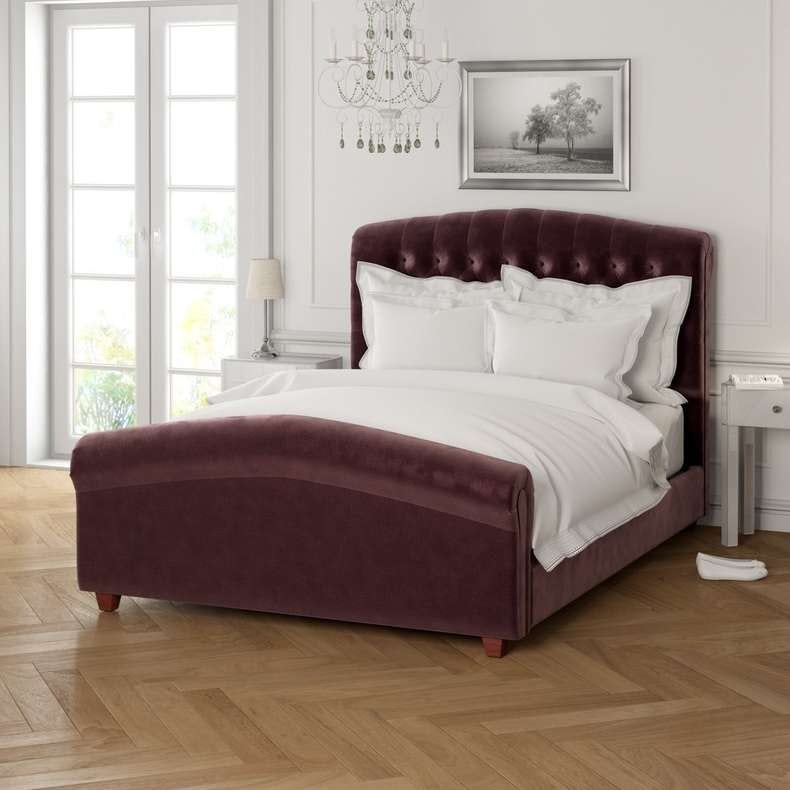 Serene mulberry double bed