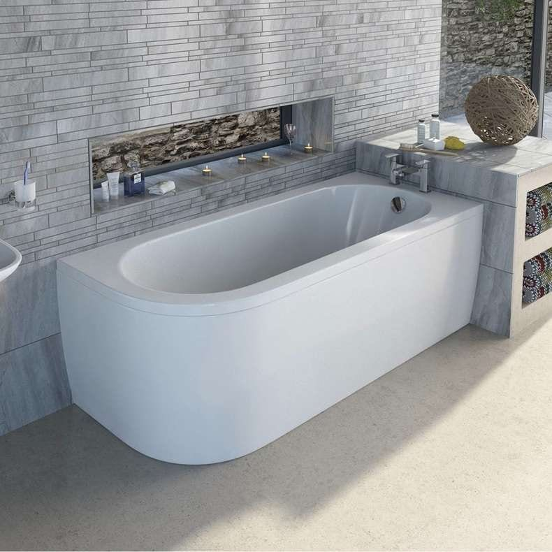 Cayman D shaped right handed single ended bath 1700 x 750