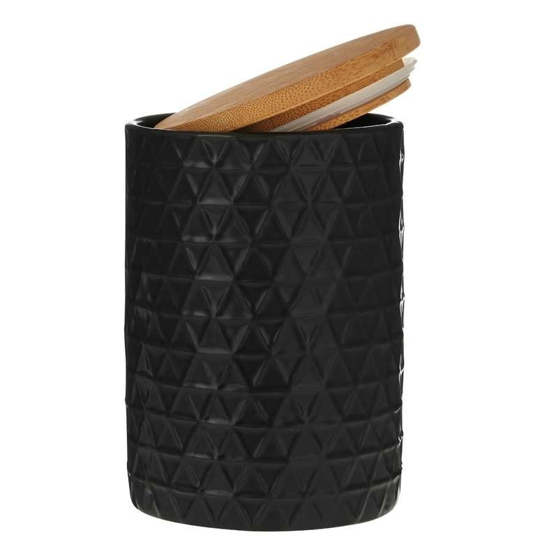 Contour black triangle storage jar