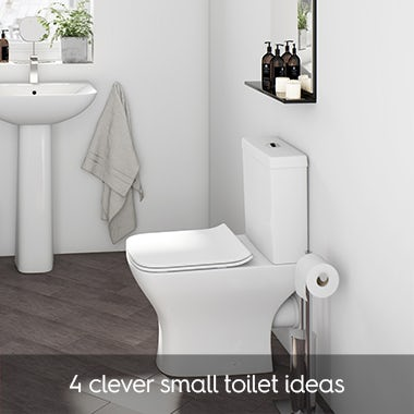 & Small cloakroom bathroom ideas | VictoriaPlum.com