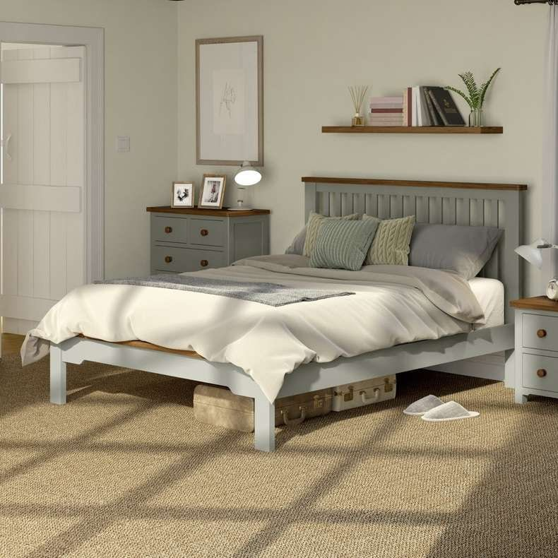 Rome oak and mellow sage double bed