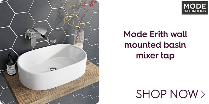 Mode Erith wall mounted basin mixer tap