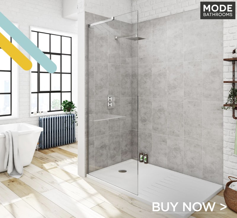 Mode 8mm walk in shower enclosure with walk in tray