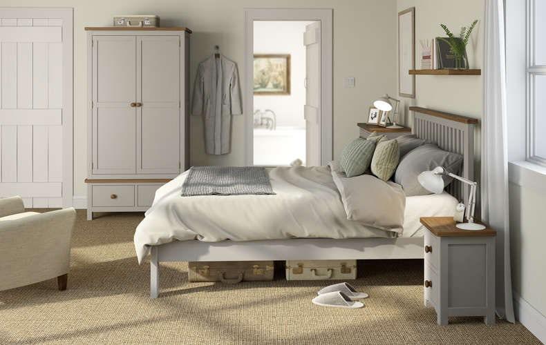 Rome oak and mellow sage bedroom furniture range