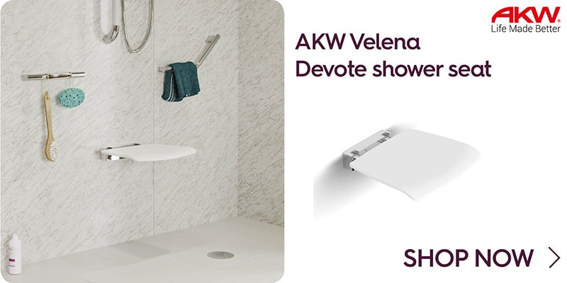 AKW Velena Devote shower seat white
