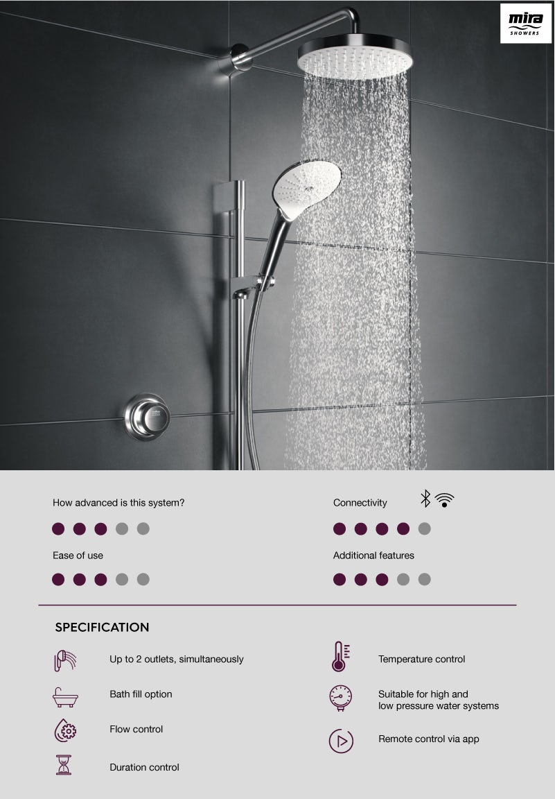 Mira Mode digital shower