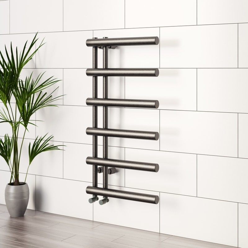 Mode Hardy anthracite heated towel rail 1000 x 500 offer pack