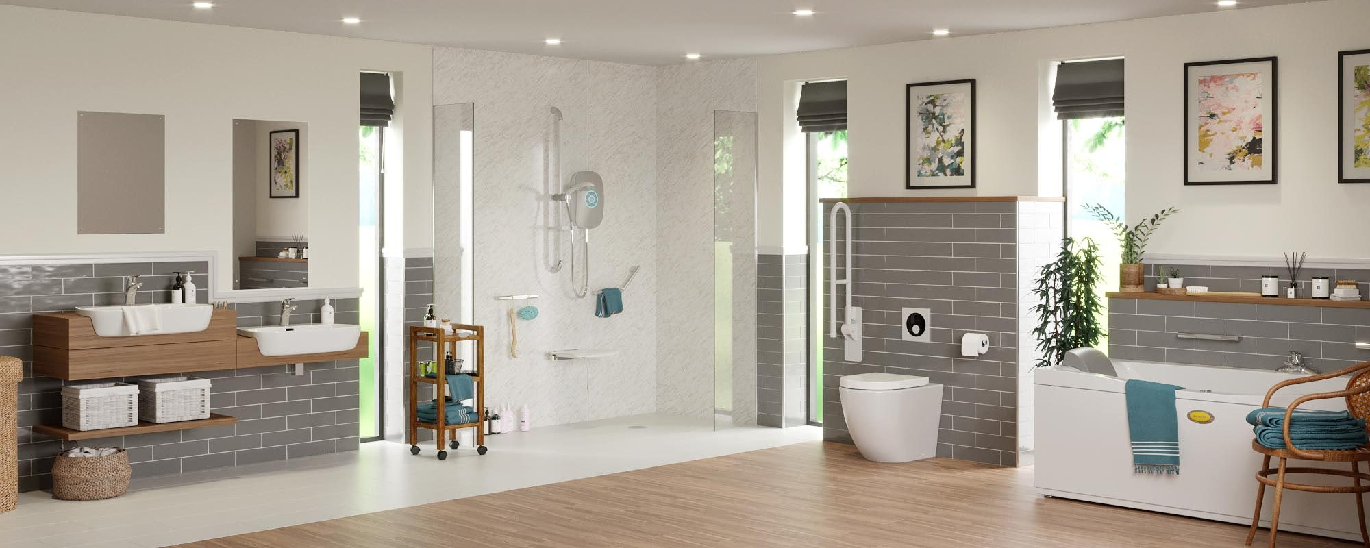 Independent Living bathroom room set 1