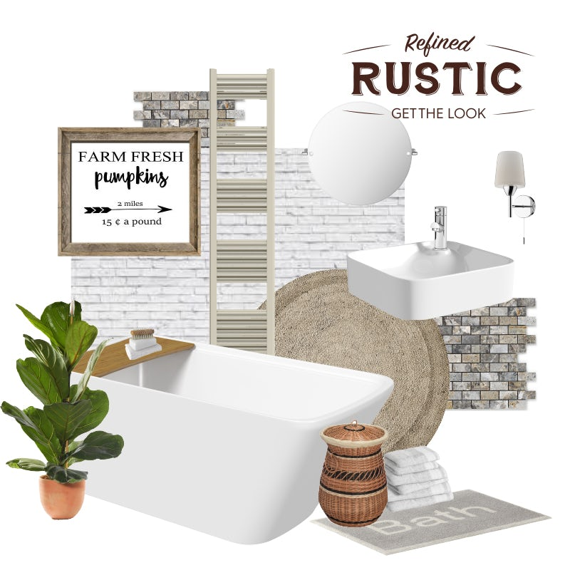 Refined Rustic mood board