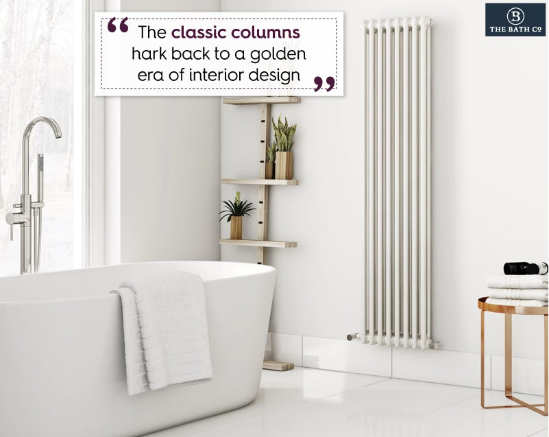 The Bath Co. Dulwich vertical white double column radiator