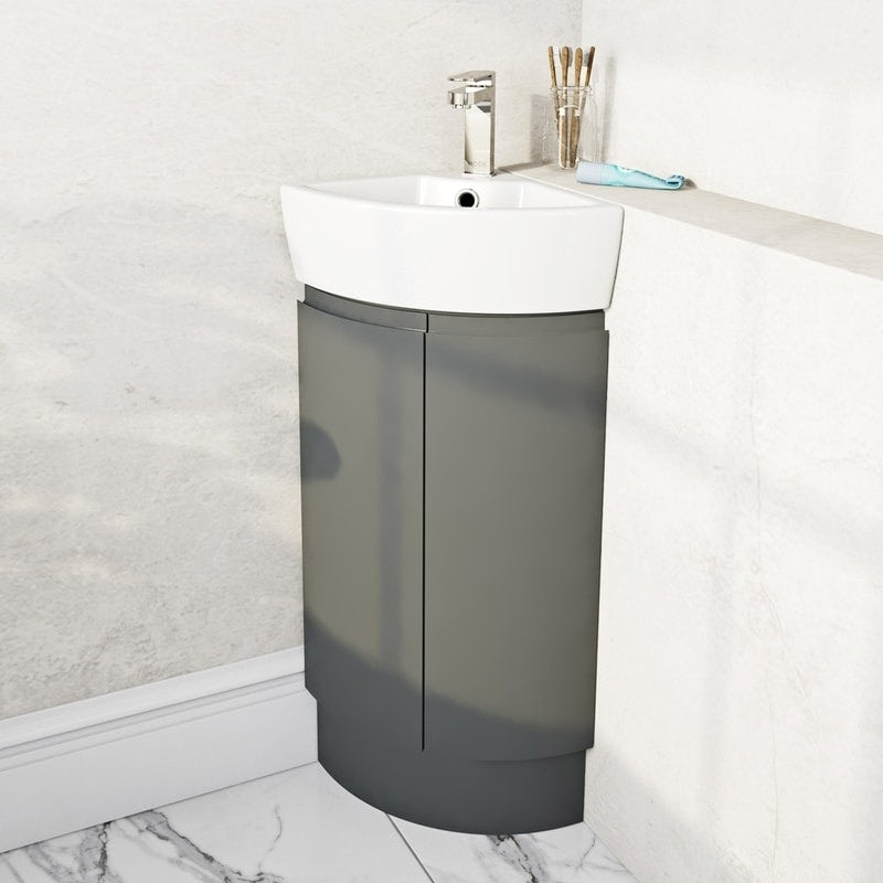 Mode Harrison slate corner vanity unit and basin