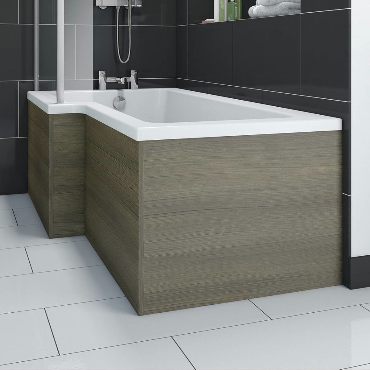 Orchard Wye walnut shower bath panel pack 1700 x 700