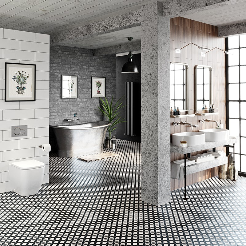 Soft Industrial bathroom