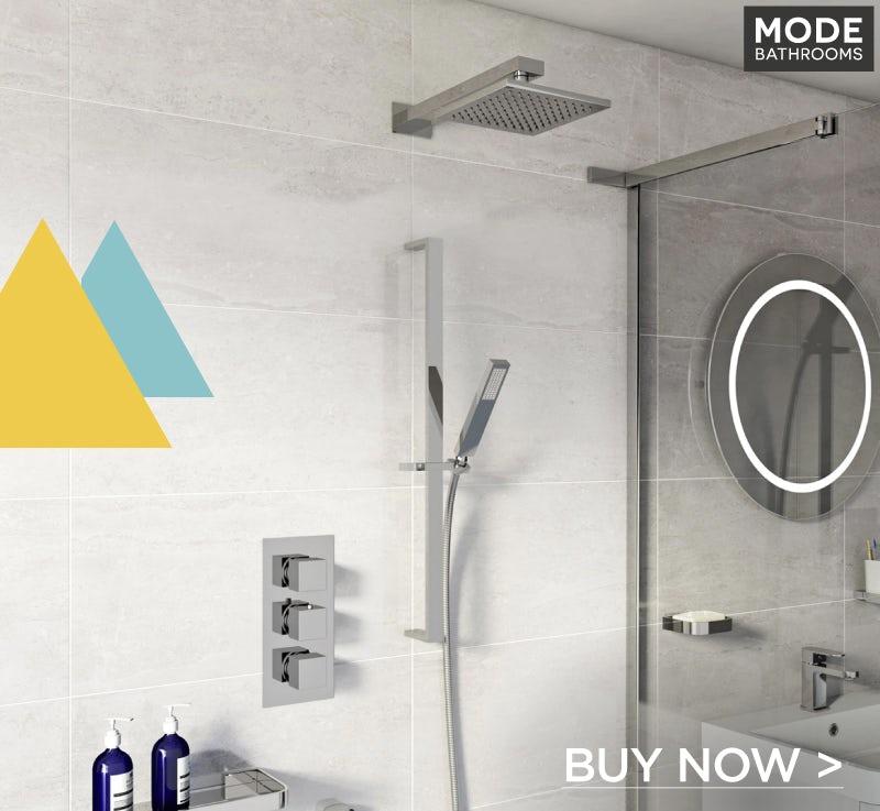 ModeEllisthermostatic triple shower valve complete shower set