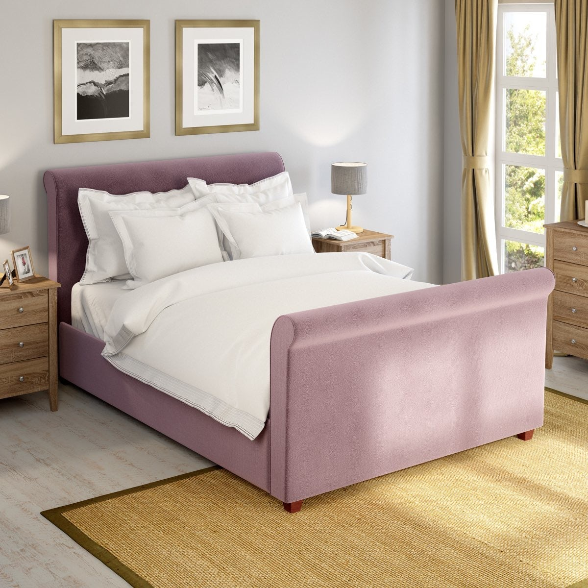 Dreamboat lilac double bed