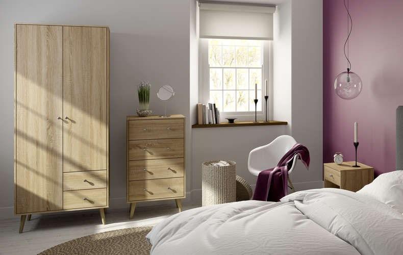 Helsinki oak bedroom furniture