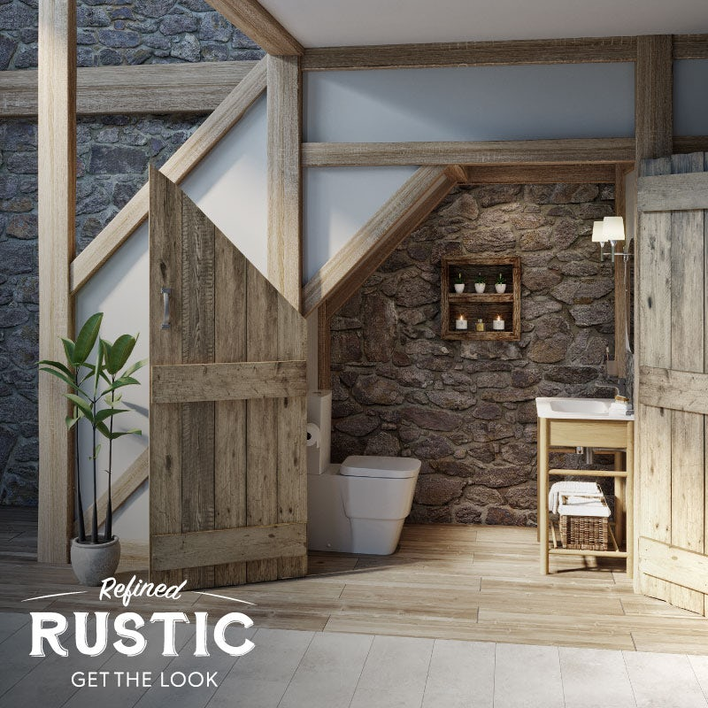 Refined Rustic cloakroom