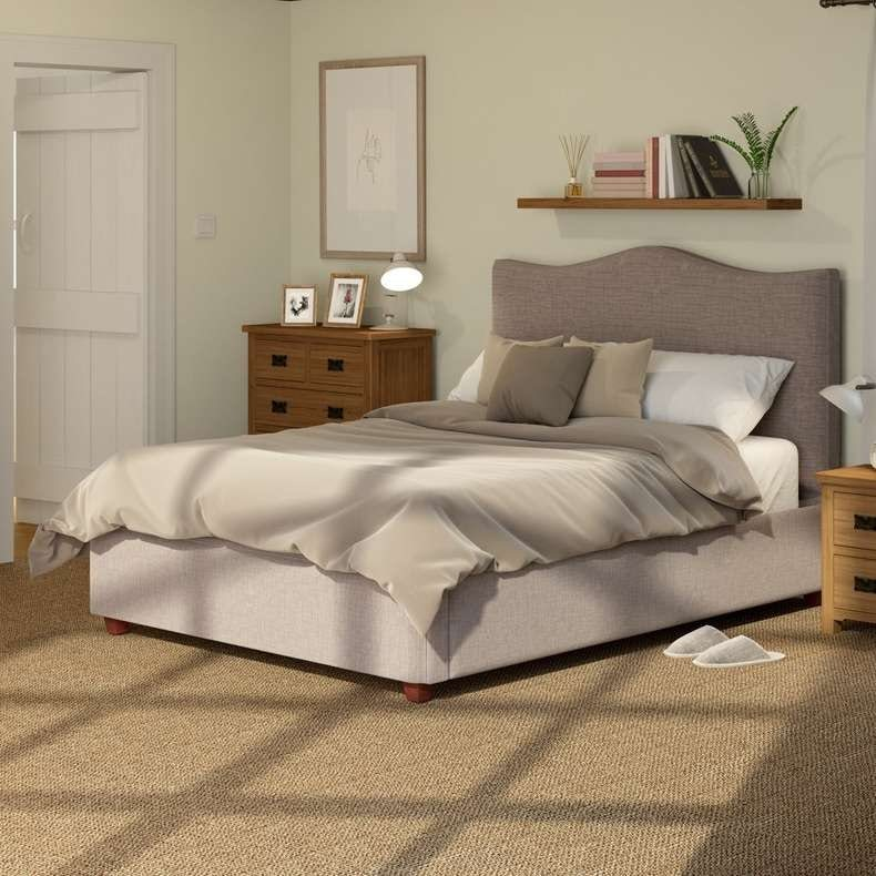 Tranquil slate double bed