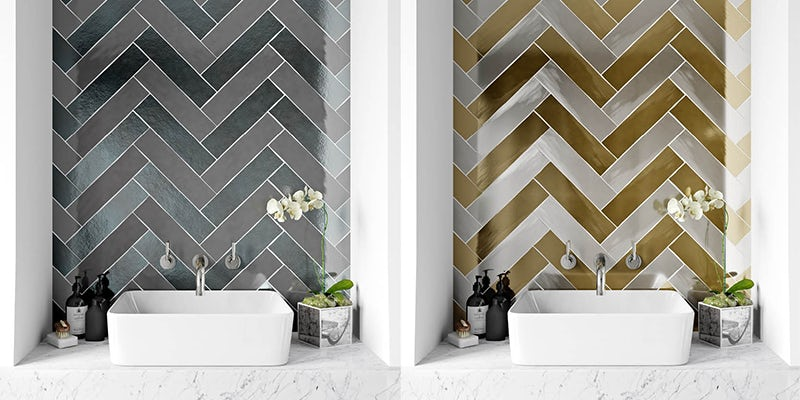 Metallic tile combinations