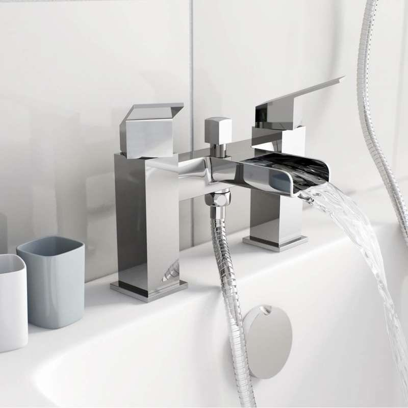 Wye waterfall bath shower mixer tap
