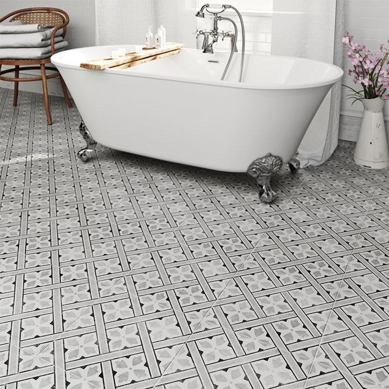 Laura Ashley heritage Mr Jones grey charcoal matt tile 331mm x 331mm
