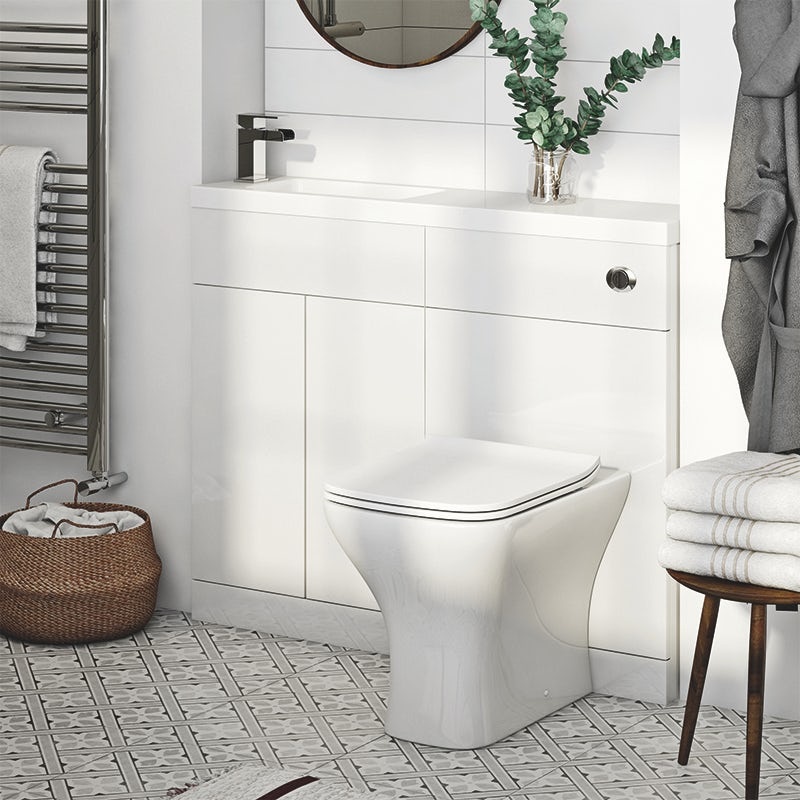 MySpace Slim white combination with contemporary square toilet