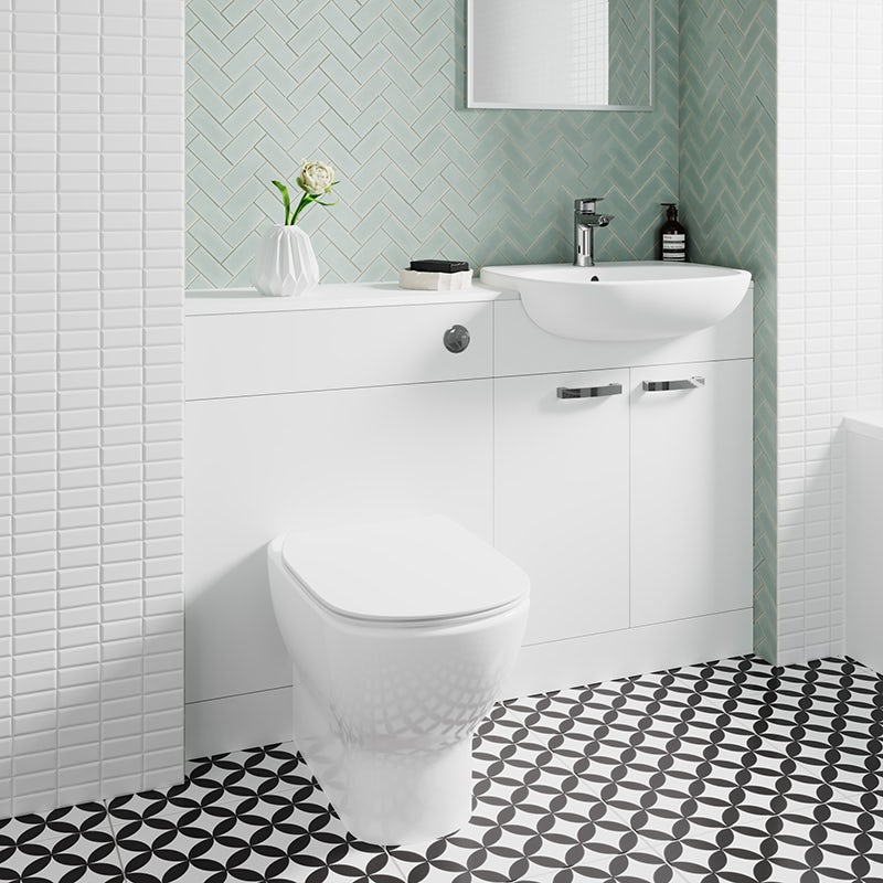 Tesi combination unit with back to wall toilet