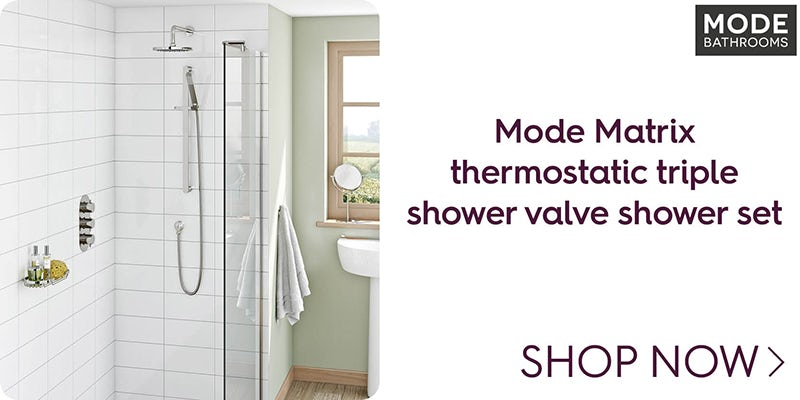 Mode Matrix thermostatic triple shower valve shower set