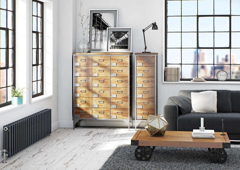 industrial looking furniture. industrial style living space looking furniture