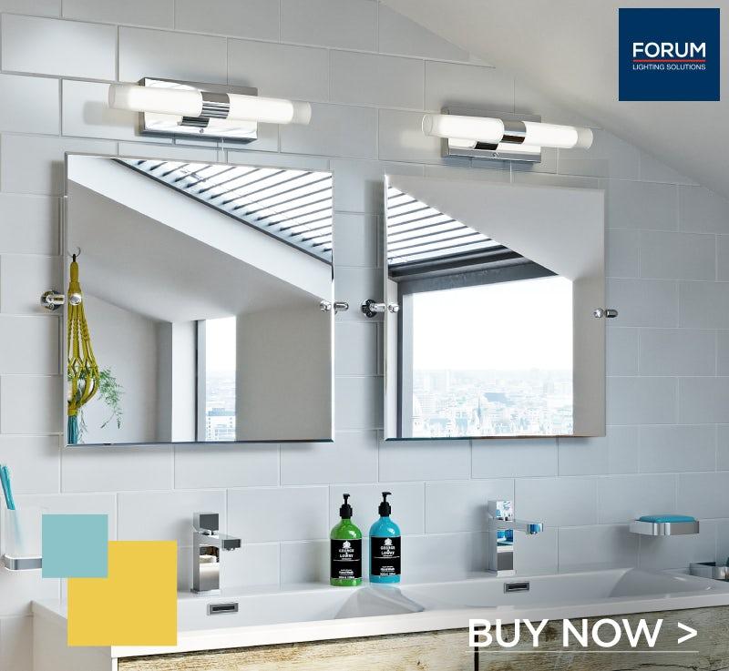 Forum Arinna 2 light over mirror bathroom light