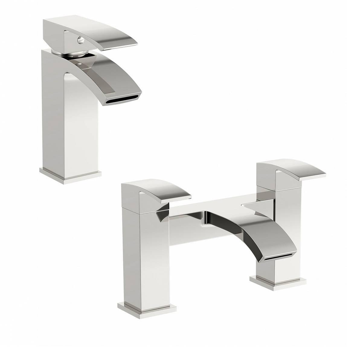 Orchard Wye basin and bath mixer tap pack
