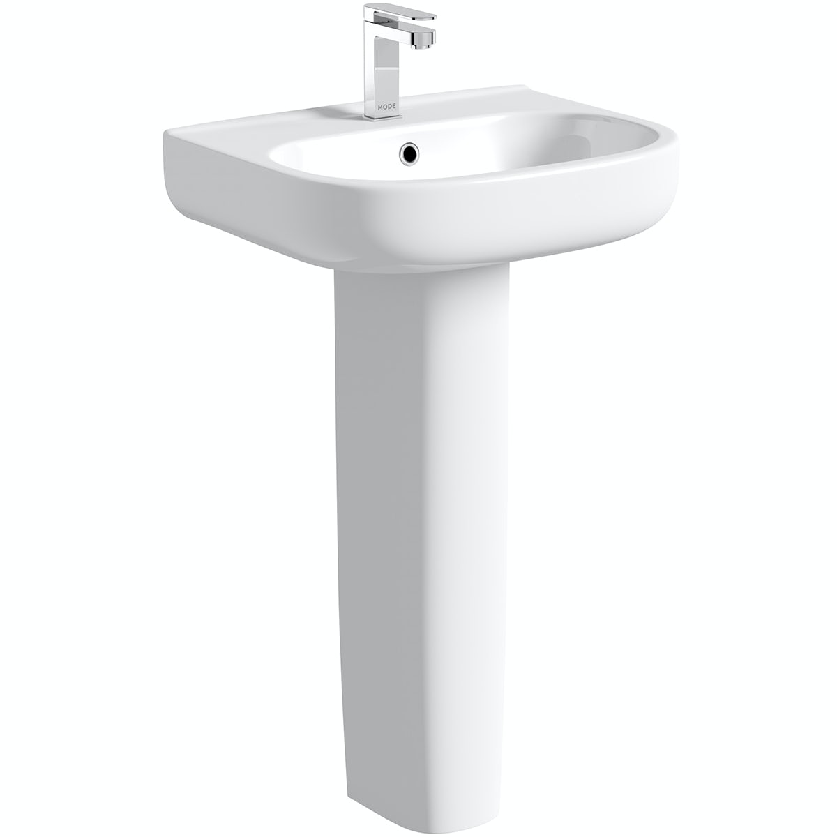Mode Burton full pedestal basin 550mm with waste
