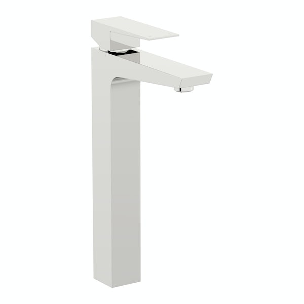 Mode Carter high rise basin and 4 hole bath shower mixer tap pack