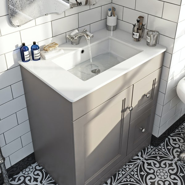 The Bath Co.Winchester graphite vanity unit and basin 800mm